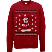 Disney Mickey Mouse Christmas Mickey Scarf Red Christmas Sweatshirt
