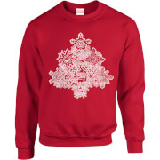 Marvel Comics Marvel Shields Christmas Tree Red Christmas Sweatshirt