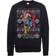 Marvel Comics The Mighty Thor Weihnachtspullover - Schwarz