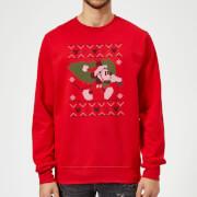 Disney Mickey Mouse Christmas Tree Mickey Red Christmas Sweatshirt