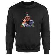 Star Wars Mistletoe Kiss Black Christmas Sweatshirt