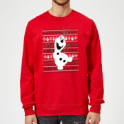 Disney Frozen Christmas Olaf Dancing Red Christmas Sweatshirt