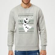 Disney Frozen Christmas Olaf Dancing Grey Christmas Sweatshirt