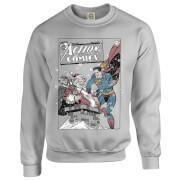 DC Comics Originals Superman Action Comics Grey Christmas Sweatshirt   L   Grey