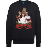Sweat Homme/Femme Jedi Chants de Noël - Star Wars - Noir