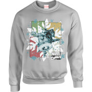 Marvel Comics Black Widow Captain America Grey Christmas Sweatshirt