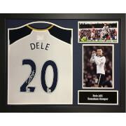 Image of Dele Alli Signed and Framed Tottenham Hotspurs Shirt