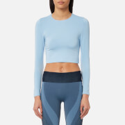 Varley Women's Vermont Long Sleeve Cropped Top - Powder Blue - M - Blue