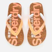 Superdry Women's Cork Flip Flops - Multi Fleck/Fluro Coral