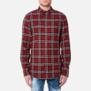 Dsquared2 Men's Wired Collar Check Shirt - Red/Blue - XL - Red/Blue