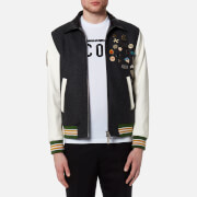 Dsquared2 Men's Wool Leather and Denim Jacket with Pins - Mixed Colours - 46/S - Multi