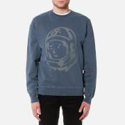 Billionaire Boys Club Men's Damaged Crewneck Sweatshirt - Overdye Navy