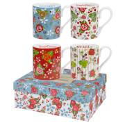 Julie Dodsworth Vintage Floral 4 Piece Mug Gift Set