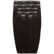 Beauty Works 18 Double Hair Set Clip-In Extensions - Ebony 1B
