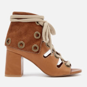 See By Chloé Women's Calf Leather Heeled Sandals - Cuoio - UK 3 - Tan