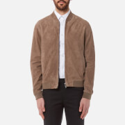 Herno Men's Goat Suede Bomber Jacket - Taupe - L/IT 52 - Brown