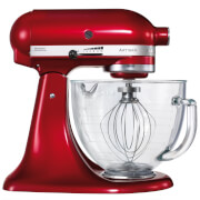 KitchenAid KSM156BCA Artisan 4.8L Tilt-Head Stand Mixer - Candy Apple Red