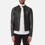 Versace Collection Men's Perforated Leather Jacket - Nero - 50/L - Black