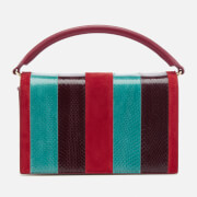 Diane von Furstenberg Women's Soirée Top Handle Bag - Jade/Bright Red/Deep Fif