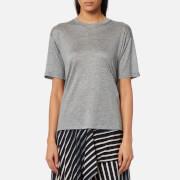 Diane von Furstenberg Women's Back Ruffle T-Shirt - Grey Melange - M - Grey