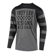 Troy Lee Designs Skyline Long Sleeve Checker Jersey - Grey/Black - XL - Grau/Schwarz
