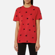 McQ Alexander McQueen Women's Classic T-Shirt - Amp Red/Black Swallow - L - Red
