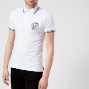 Versace Jeans Men's Round Logo Polo Shirt - Bianco