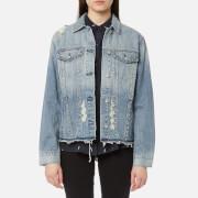 Rails Women's Knox Studded Denim Shirt Jacket with Studs - Medium Vintage - L - Blue