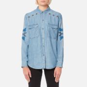 Rails Women's Griffon Shirt - Medium Vintage Metallic Arrows - M - Blue