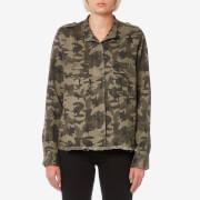 Rails Women's Hendrick Shirt - Star Camo - L - Green