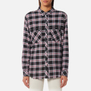 Rails Women's Rex Shirt - Charcoal Berry Blush - L - Multi