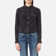 Rails Women's Rhett Shirt - Charcoal Camo - L - Black