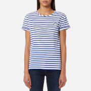 Maison Scotch Women's Felix Ams Blauw Stripe Basic T-Shirt - Multi