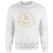 Joy, Peace And Prosecco Sweatshirt - White