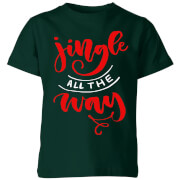 Jingle all the Way Kids' T-Shirt - Forest Green