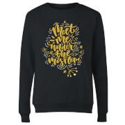 Meet Me Under The Mistletoe Women's Sweatshirt - Black