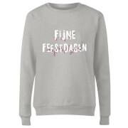 Fijne Feestdagen Frauen Sweatshirt - Grau