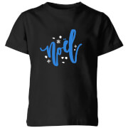 Noel Snowflakes Kids' T-Shirt - Black