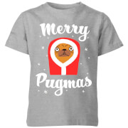 Merry Pugmas Kids' T-Shirt - Grey