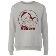 Believe Red Women's Sweatshirt - Grey