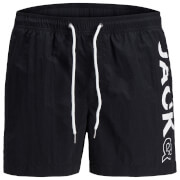 Jack & Jones Men's Originals Jones 512 Logo Swimshorts - Black