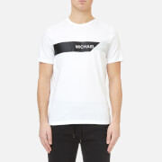 Michael Kors Men's Geo Chest Stripe Logo Graphic T-Shirt - White