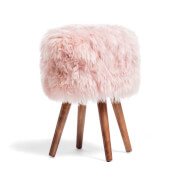 Royal Dream Himmlicher Pink Schafspelz Hocker