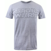 T-Shirt Homme Logo Basique Star Wars - Gris Chiné