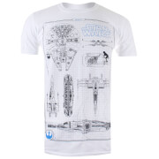 Star Wars Men's Rebel Schematics T-Shirt - White