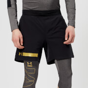 Under Armour Men's Perpetual Shorts - Black/Metallic Gold