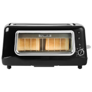 Tower T20011 2 Slice Long Shot Glass Toaster - Black