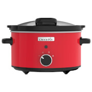 Crockpot CSC037 Hinged Lid Slow Cooker - Red (3.5L)
