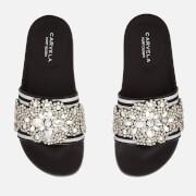 Carvela Women's Kath Slide Sandals - Black/White