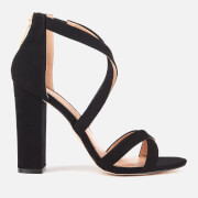 Miss KG Women's Faun Suedette Strappy Heeled Sandals - Black - UK 3 - Black